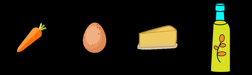 Flan carote